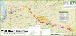 Wolf River Trail and Greenway Map